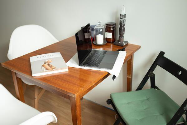 Canva - Silver Macbook Pro on Brown Wooden Table
